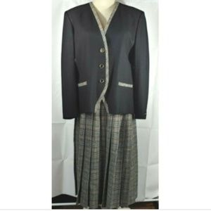 Pendleton Jacket Skirt Set Size 14